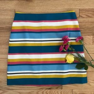 Ann taylor loft multicolored striped skirt 4
